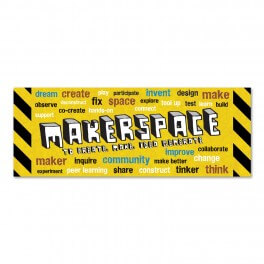 Makerspace Wall Graphic (Yellow)