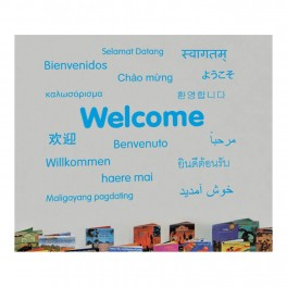 Welcome Languages Vinyl Lettering