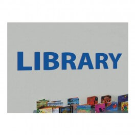 "Perspex ""LIBRARY"" Letters"