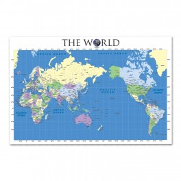 World Map Wall Graphic Mural (Removable)