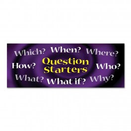 Question Starters Wall Graphic