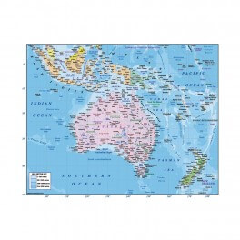 Australia & Oceania Wall Graphic (Large)