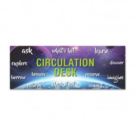 Circulation Desk Wall Graphic (Space Design)