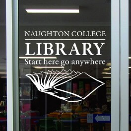 Your School Library Vinyl Lettering