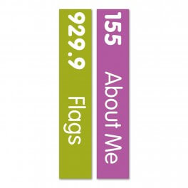 Slim Expanded Non Fiction Sticky Back Signs Set 3 Design 5 (Colour Coded)
