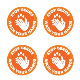 Stop Germs Wash Your Hands Wall Graphics