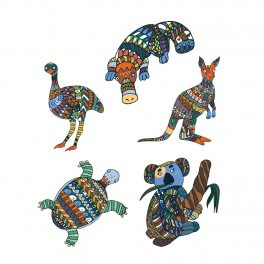 Australian Animals Wall Graphic (5-pack)