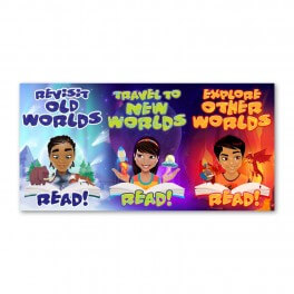 Reading Rewards Banner Poster Set 7