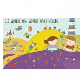 Old Worlds, New Worlds, Other Worlds (Bright) Wall Graphic Mural