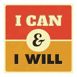 I Can And I Will Wall Graphic Sticker
