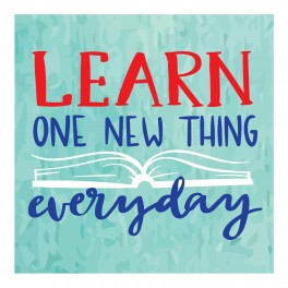 Learn One New Thing Wall Graphic Sticker