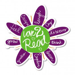 Love to Read Flower Printed Sticker