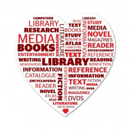 Love your Library Wordle Printed Sticker