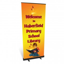 Welcome to the Library Roll Up Banner (Custom Wording)