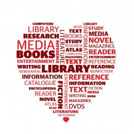 Love Your Library Wordle Vinyl Lettering