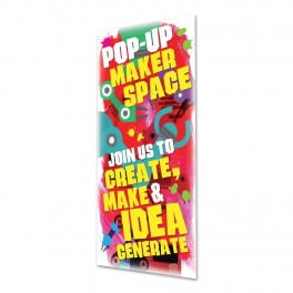 Pop Up Makerspace Door Graphic