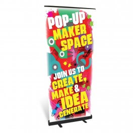 Pop up Makerspace Roll Up Banner