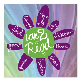 Love to Read Adhesive Wall Graphic Sticker