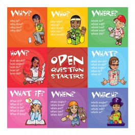 Open Question Starters Adhesive Wall Graphic Sticker