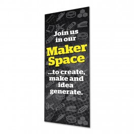 Makerspace Location Door Graphic