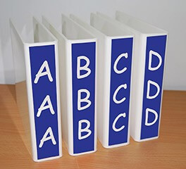 Vinyl Signs to Slimline Dividers